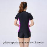 Mulheres Sexy Long Sleeve Zip-up Top Track Suit Rash Guard