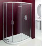 목욕탕 6mm 강화 유리 오프셋 상한의 샤워 문 울안 (MQD8010)