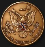 Монетка сувенира артиллерии 3D противовоздушнаяа оборона латунная (JJ10-C063)