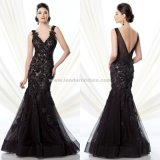 Black Lace Mãe da Noiva Vestidos Mermaid Prom Vestido formal Evening B28