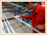 Perfil anodizado de oro de la protuberancia de aluminio/de aluminio (RA-016)