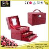 Il cuoio artificiale del fornitore classico della Cina ha coperto il contenitore di monili del cartone