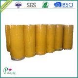 Gelbliches BOPP anhaftendes Verpackungs-Band-riesige Rolle der gute Qualitäts