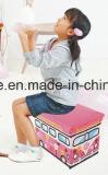 Tamborete encantador de couro do armazenamento da série do projeto do barramento dos miúdos do PVC