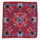 Cofia barata al por mayor de señora Women Cotton Polyester Ravenscarf