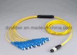 MTP-MTP 6.0mm 24 ponticelli ottici del cavo di uscita di memorie