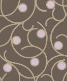 Papel de empapelar blanco y negro para el material decorativo