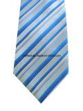 Классицистический голубой и белый галстук нашивки для человека
