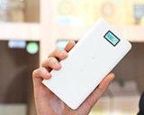 電話のための20000 mAhの感覚6/6プラスLCD携帯用力バンクの充電器外部電池の速い充満