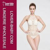 Mode One-Piece Swim Wear Hand Crochet Bikini (L32574-1)