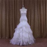2016 разнослоистых плиссированных платьев венчания Organza в Дубай