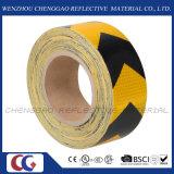 Autoadesivo riflettente nero e giallo Rolls del PVC con la freccia (C3500-AW)