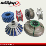CNC Máquina Profiling roda para Pedra / abrasivo Chamfering Profiling Router