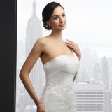 Mermaid Sleeveless Lace Wedding Dress (SL-036)