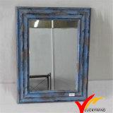 Espelhos de madeira quadro decorativos pequenos azuis chiques gastos da parede