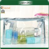 方法贅沢な防水透過PVC化粧品のハンド・バッグ
