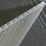 Triple trasparente Wall Polycarbonate Hollow Sheet per Roofing
