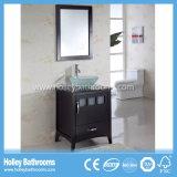 Gabinete de banheiro clássico de venda quente da madeira contínua do estilo americano (BV144W)