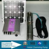 Maison solaire principale élevée soulevant les pompes à eau submersibles