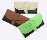 Two Tone contrast Color Trifold PU Women Wallet