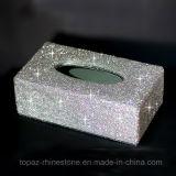 صنع وفقا لطلب الزّبون بلّوريّة عصا [رهينستون] نسيج صندوق مبتكر نسيج [ببر نبكين] صندوق ([تب-003])