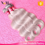 No Bad Smell Silver Color Body Wave Cinza brasileira Remy Hair Weave