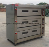 Industrial Gas Horno 3 de cubierta 12 bandejas de pan y pasteles