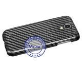 Caso verdadero inferior de la parte posterior de la fibra del carbón de MOQ el 100% para la galaxia S4 de Samsung