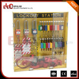 Cadeado do amarelo 10 de Elecpopular estação portátil de Tagout do fechamento da segurança dos bons Insulativity