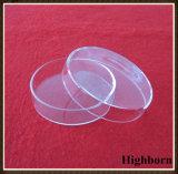 덮개를 가진 명확한 둥근 밑바닥 실리카 석영 유리 세균 배양용 접시