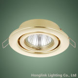 広東省Manufacturerの真鍮のAdjustable GU10 MR16 Recessed Fixture Downlight