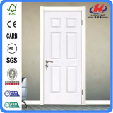 Нутряная белая дверь праймера отлитая в форму HDF деревянная