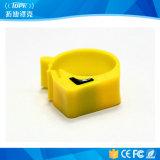 125kHz/134.2kHz/13.56MHz RFID Animal Foot Ring Tags voor het Volgen