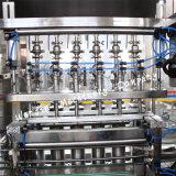 Chaîne de production recouvrante de machine à étiquettes de remplissage de bouteilles automatique d'huile de table