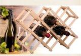 Cremalheira creativa de dobramento do vinho de 10 frascos da cremalheira do vinho da madeira contínua