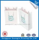 Weiße Farben-Papier-Einkaufstasche mit Matt-Laminierung