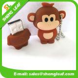 Movimentação colorida adorável do flash do USB da borracha do presente relativo à promoção (SLF-RU024)