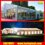 Tent van de Markttent van de Gebeurtenissen van de Partij van het Huwelijk van de Luxe van de Muur van het glas de Grote Openlucht Witte met Linnen en Gordijnen voor Verkoop