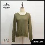 Frauen-Lace-up rückseitige grüne Fall-Strickjacke