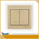 Interruptor Home esperto de controle remoto de WiFi do ouro