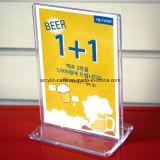 De heet-verkoopt Acryl Pop Houder van het Menu van de Lijst met de Vertoning van T (hy-YXH0020)