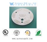 Weiße Soldermask runde Metallkern Schaltkarte-Leiterplatte für LED