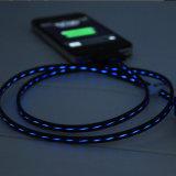 cavo di dati chiaro istantaneo del telefono di 1m LED per Samung, iPhone