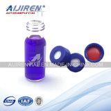 زرقاء قصير [سكرو-ثرد] بوليبروبيلين غطاء يستعمل لأنّ مختبرة زجاجات, [هبلك] قنينات