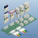 보편적인 동료 N Lok 6.35 피치 플러그 연결관
