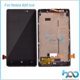 Écran LCD en gros d'écran tactile d'usine pour le remplacement de Nokia Lumia 820