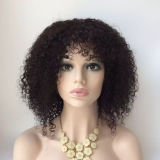 Младенец парика волос шнурка верхней бразильской девственницы полный курчавый