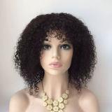 Bebê cheio da peruca do cabelo do laço do Virgin brasileiro superior Curly