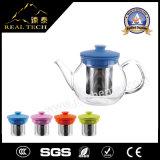 Vetro di POT di vendita caldo del tè del Borosilicate del regalo di natale con acciaio inossidabile Infuser