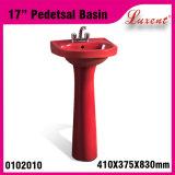 Lavabo sur pied extérieur solide de petite taille de lavage de main de jardin de poterie